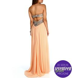 Penelope Apricot Prom Dress
