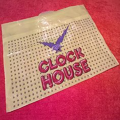 Vintage 1980s Clock House Carrier Bag For Sale