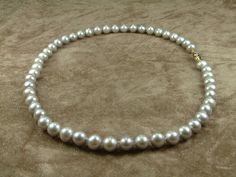 Grey Pearl Necklace 8  9 mm Κολιέ με Γκρι by AkoyaPearls on Etsy, €317.00