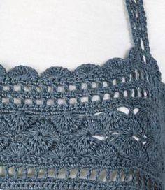 Crochet yoke, free pattern