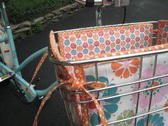 Bike basket liner inspiration