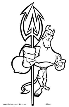 The Emperors New Groove Color Page Disney Coloring Pages Plate Sheet