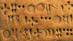 Proto-Elamite is the name given to a writing system developed in an area that is now in south-western Iran It was adopted about and was borrowed from neighbouring Mesopotamia Ancient Mysteries, Ancient Artifacts, Ancient Aliens, Ancient History, Ancient Scripts, Handwritten Text, Alphabet, Sumerian, Le Far West