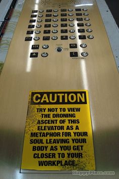 elevator, funni sign, existenti elev, door open, giggl, favorit thing, happy monday, humor, feelings