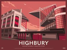 Highbury was originally designed by Archibald Leitch and then significantly redesigned in the Art Deco style in the by Claude Waterlow Ferrier and William Binnie. Arsenal played their final game at Highbury on 7 May 2006 when Thierry Henry scored a Red Wall Art, Paper Wall Art, Motivational Wall Art, Inspirational Wall Art, Arsenal Football, Arsenal Fc, Football Team, English Football Stadiums, British Football
