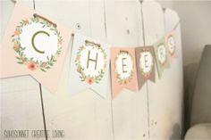 DIY Banner Letters Printable Anthropologie Knock Off - SohoSonnet Creative Living