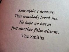 Last Night I Dreamed That Somebody Loved Me - The Smiths