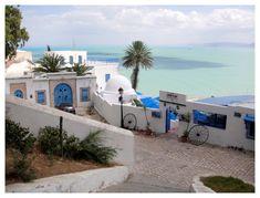 Sidi Bou Saïd//Sidi Bou Saïd est un village de Tunisie situé à une vingtaine de kilomètres au nord-est de Tunis. Il compte 4 793 habitants selon le recensement de 2004. Wikipédia