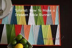 Dresden Table Runner tutorial