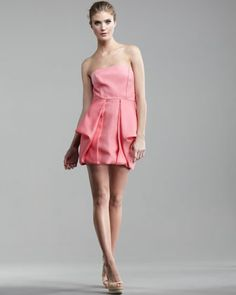 Simona Strapless Jacquard Dress by Tibi at Bergdorf Goodman.