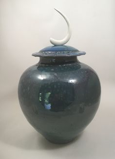 Sea Bone Jar, stoneware and porcelain, wood/soda fired, handmade by NC potter, David Voorhees Pottery