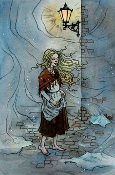 Little Match Girl. Cold wind by liga-marta.deviantart.com on @DeviantArt