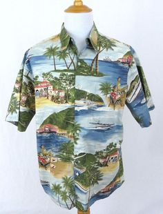 79f951fd Hawaiian Islands Archipelago Boy's Shirt created in White and Khaki.  MauiShirts search box stock number: 211-3614 | Boy's Hawaiian Clothing |  Pinterest ...