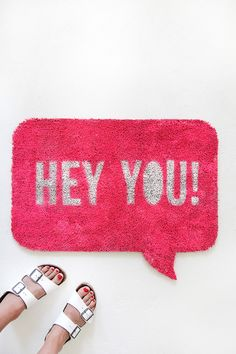 MY DIY | Quote Bubble Welcome Mat