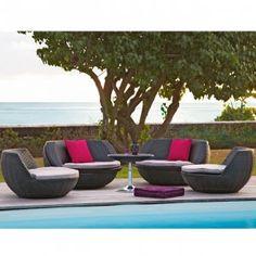 Transat jardin loveuse chilienne banc hamac taupe et lieux - Petite table de jardin gifi ...