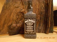 Jack Daniels Liquor Bottle Light by AfterAGlassCreations on Etsy