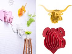 Forget Real Hunting Trophies – 10 Wall Trophies For Animal Lovers | http://www.designrulz.com/design/2015/08/forget-real-hunting-trophies-10-wall-trophies-for-animal-lovers/