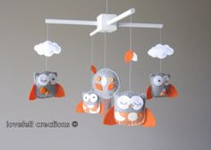 I could have a whole page just for owl mobiles... (From http://www.etsy.com/listing/92140214/baby-crib-mobile-baby-mobile-owl-mobile)