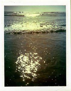 Ocean Shores, Washington, on Polaroid 669.