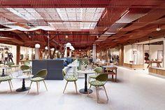 Paleet shopping center, Oslo   Norway restaurant fashion cafe bar - retail design