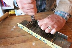 Make This: Old License Plate, New Box | Man Made DIY | Crafts for Men | Keywords: box, metal, recycled, diy