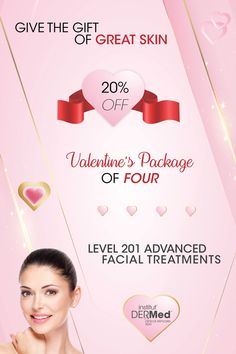 Share the Love Offer from Institut' DERMed Spa FACIAL TREATMENT PACKAGE OF 4 FACIAL TREATMENTS! Institut' DERMed 201 Advanced Facial Treatments Valentines SPECIAL - $512 (Reg. price $640) SAVE 20% Purchase in-spa OR visit or website for an instant gift card in the amount of $512 - to be applied to your package account when you visit us. Offer valid until Feb. 14th, 2021. 1 per client please Call today to schedule 404-261-5199 or visit our promotions page for more details. Valentine Special, Valentines, Spa Facial, Spa Deals, Share The Love, Spa Services, Spa Gifts, Facial Treatment, Schedule
