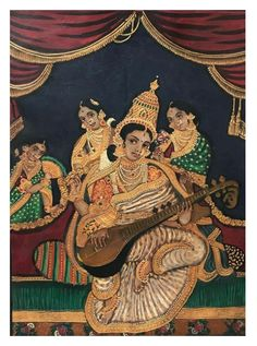 Mysore Painting, Tanjore Painting, Temple India, Foot Prints, Painted Chairs, Kerala, Roots, Artworks, Ads