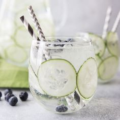 Sparkling Cucumber Blueberry Spa Water - Tried and Tasty