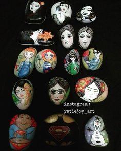 #artbyyatiejoy#stoneart#paintedstones#owlstagram_feature#owls#art#artist#artistsofinstagram#arts_help#batman#colourfull#instagram#mandala#instaartexplorer#mizu_arts_help#arts_visualization#instaartexplorer#artist_4_shoutout#superman#happy#stonepainting#stonepaintingartist#catlovers#birds#fish#butterfly#catsagram#cats#monsters#girls#tasboyama