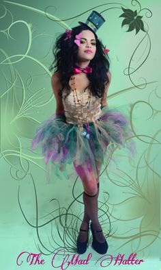 """From our """"Mad hatter"""" shoot  Tutu, mini top hat, bow tie, and necklace created by MoNay's Closet 3/12"""
