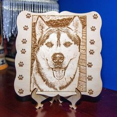 Photo Engraving, Custom Engraving, Laser Engraving, Pet Portraits, Family Portraits, Family Photos, Hardwood Plywood, Mother And Father, High Resolution Photos