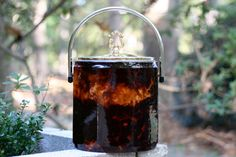 Vintage Octagonal Faux Tortoise Shell Ice by theretrobeehive