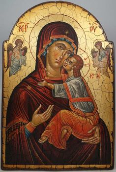 High quality hand-painted Orthodox icon of Theotokos Panumnitos. BlessedMart offers Religious icons in old Byzantine, Greek, Russian and Catholic style. Byzantine Icons, Byzantine Art, Religious Icons, Religious Art, Paint Icon, Madonna And Child, Orthodox Icons, Russian Art, Virgin Mary
