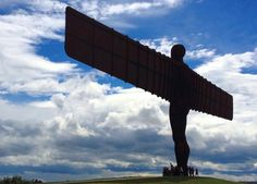Angel of the North overlooking the M1 - Gateshead by Anthony Gormley