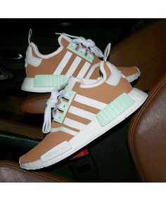 cb8f11e5240ff Adidas NMD Brown White Green Trainers Sale UK Cheap Adidas Nmd