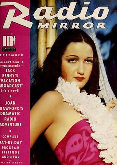 Dorothy Lamour on the cover of Radio Mirror magazine, September 1937.