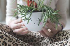 DIY planter via la la lovely