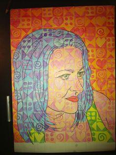 Chuck Close Grid Portraits