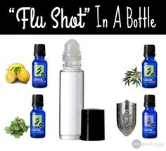 """Make your own """"flu shot"""" in a bottle using essential oils."""