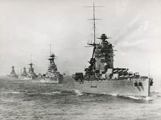 HMS Battleship Rodney leading a fleet of...heavy ships!