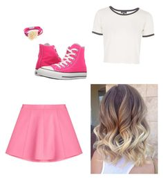 """""""violetta look"""" by elisa-xxix on Polyvore featuring Accessorize, Converse, Topshop and RED Valentino"""