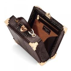 Authorised stockist of Aspinal of London Mini Trunk clutch in a pheasant brown snake print leather. Aspinal of London Handbags with Free UK Next Day Delivery & 24 hr Engraving. Leather Gifts, Aspinal Of London, Luxury Gifts, Snake Print, Hermes Kelly, Clutch Bag, Louis Vuitton Damier, Trunks, Brown