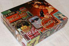 Vintage Coca Cola Collage Box by Cutie Pie Boxes