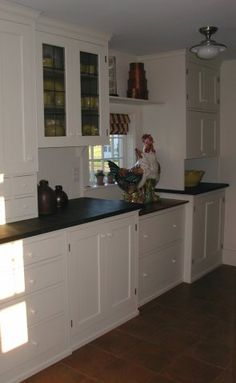 Some cabinets without toe-kick....I like!   Kitchens   Pinterest ...
