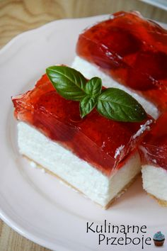 Polish Desserts, Dessert For Dinner, Homemade Cakes, Panna Cotta, Cheesecake, Food And Drink, Snacks, Cooking, Ethnic Recipes