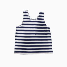 Surf Tank- Navy Stripe