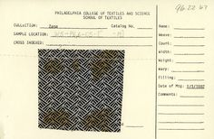 Black and white geometric print on cotton. Jan. 3,...