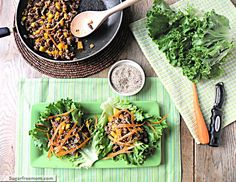 Low Carb Asian Turkey Lettuce Cups with Honey Sweetened Hoisin Sauce