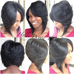 Black Quick Weave Hairstyles Unique Black Bob Hairstyles with . Bob Hairstyles black bob hairstyles with weave Short Sew In Hairstyles, 27 Piece Hairstyles, Weave Bob Hairstyles, Black Hairstyles, Hairstyles Pictures, Love Hair, Great Hair, Gorgeous Hair, Hair Styles 2016
