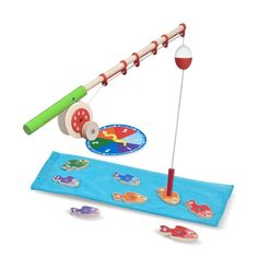 Melissa & Doug Catch & Count Wooden Fishing Game (Developmental Toy, 2 Magnetic Rods, Great Gift for Girls and Boys - Best for and 5 Year Olds) - Toys Camping Dramatic Play, Fishing Games For Kids, Developmental Toys, Melissa & Doug, Camping Theme, Math Games, Counting Activities, Children Activities, Rodin